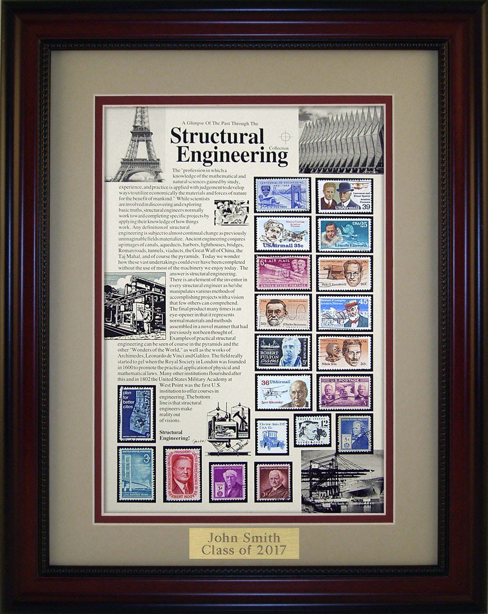 Structural Engineer - Unique Framed Collectible (A Great Gift Idea) with Personalized Engraved Plate