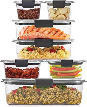 14-Piece Rubbermaid Brilliance Food Storage Containers with Plastic Lids