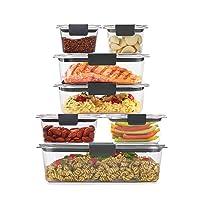 Rubbermaid Brilliance Storage 14-Piece Plastic Lids | BPA Free, Leak Proof Food...