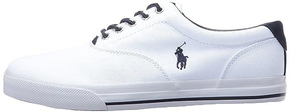Ralph Lauren Polo Vaughn Canvas Zapatilla de Deporte de Moda - Pure White (41 EU/7 UK/8 US) KRAp0S