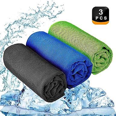 Kühltuch Fitness Sport grün 8 x Kühlendes Handtuch Kühlhandtuch Yoga Handtuch