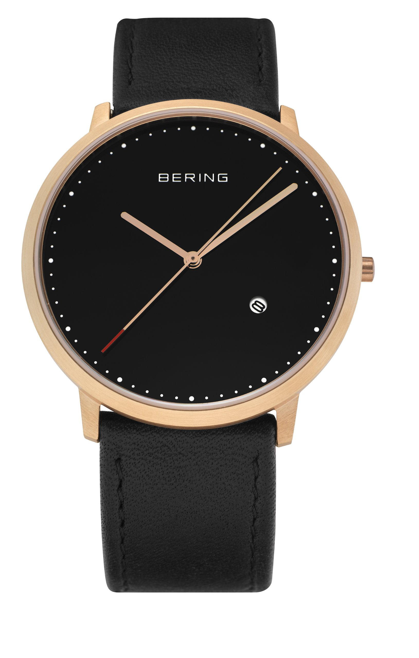 BERING Time 11139-462 Classic Collection Watch with Calfskin Band and scratch resistant sapphire crystal. Designed in Denmark. by Bering (Image #2)
