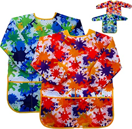 Children/'s Painting Apron Art Craft Smock Children Activity Cooking Clean Wipe
