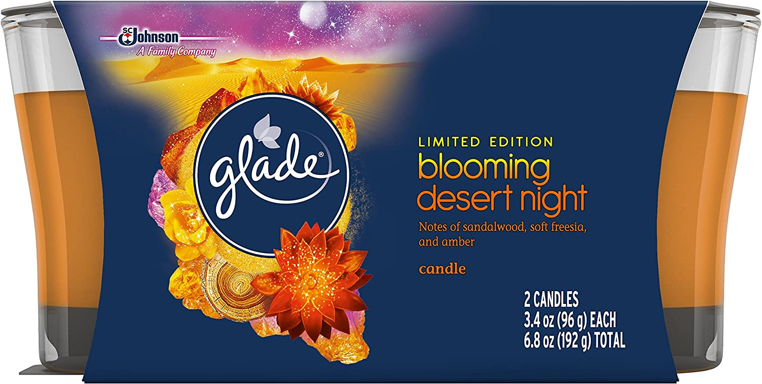 Glade Jar Candle Air Freshener Candles, Blooming Desert, 6.8 Ounce