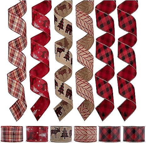 Handmade Christmas Hessian Bows// gift tags//Xmas//presents//celebration//