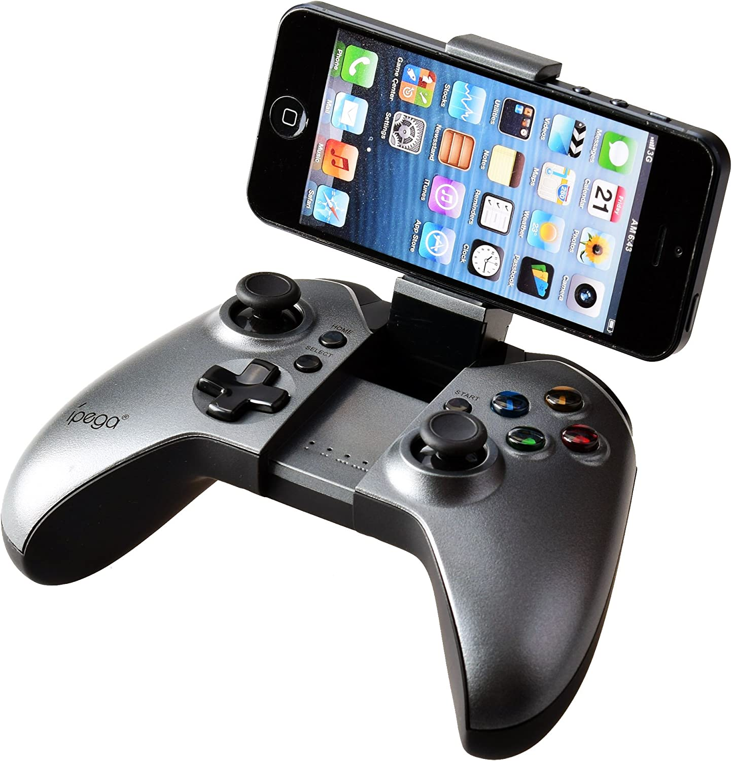 Gam3Gear PG-9062 Dark Fighter Wireless Joypad Controller Gamepad for Samsung Huawei Android TV TV Box NOT for iOS with Keychain