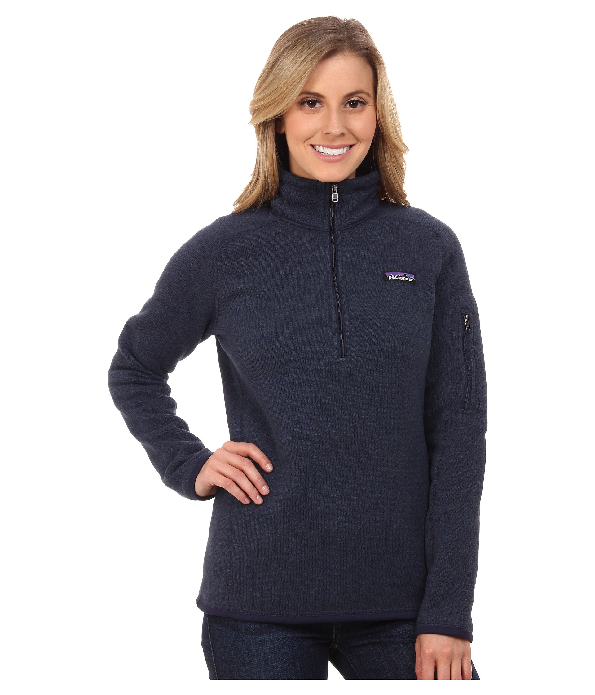 Patagonia  Women's  Sweater with 1/4 Zip Fleece - Large - Classic Navy by Patagonia