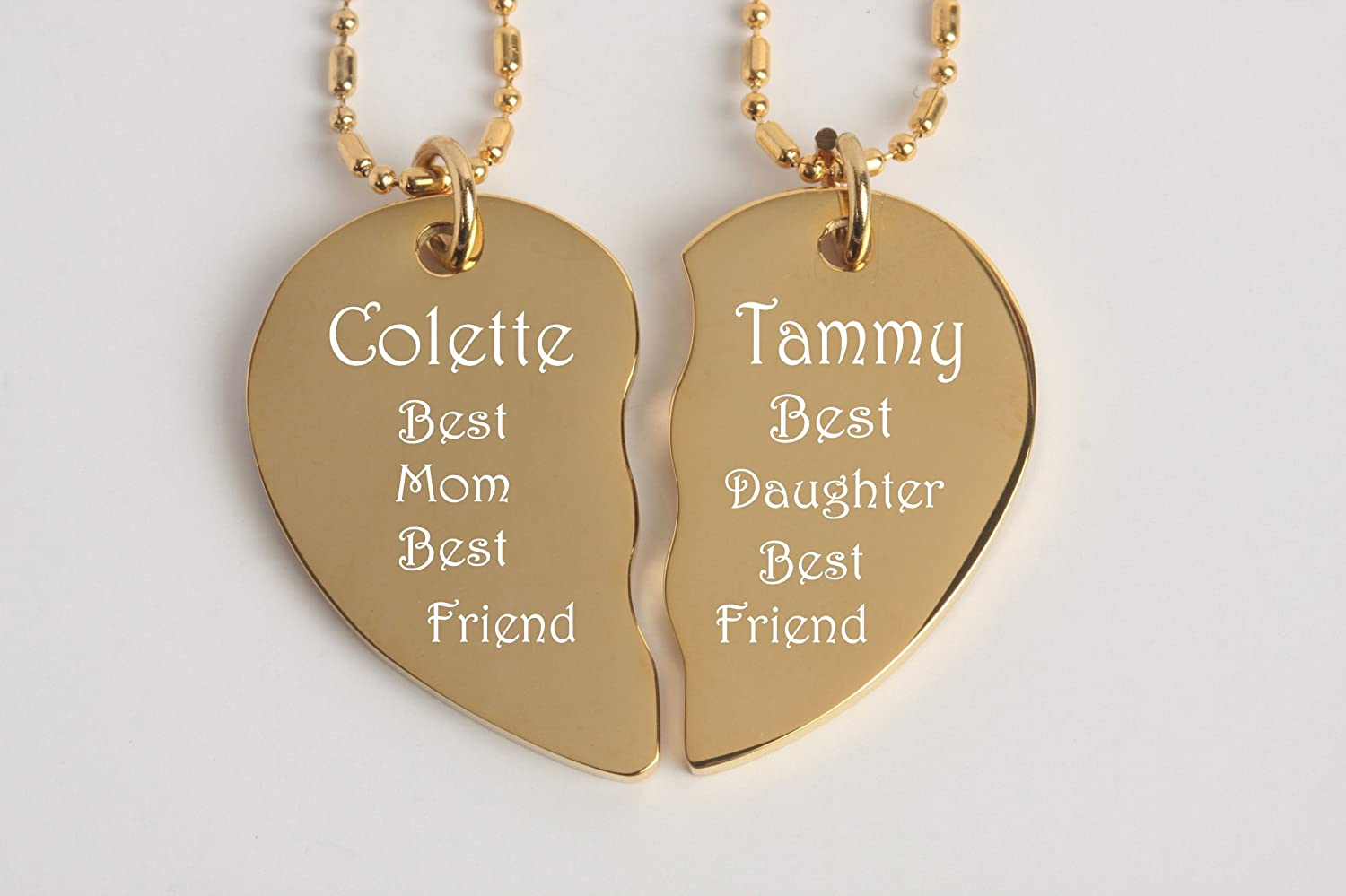 Amazon engraved gold couples broken heart necklace set amazon engraved gold couples broken heart necklace set office products aloadofball Gallery