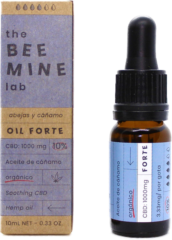 THE BEEMINE LAB Aceite DE CAÑAMO Forte con extracto CBD 10 10ml, Negro, Estandar