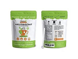 Organic Stevia Powder-Pure Stevia Extract-Stevia Select 4 oz. Bulk Stevia-Perfect Sugar Substitute Extracted from Sweet Leaf of Stevia-Great Taste Guaranteed