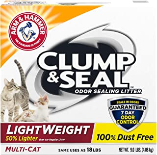 product image for Arm & Hammer Clump & Seal Lightweight Cat Litter, Multi Cat 9 lb
