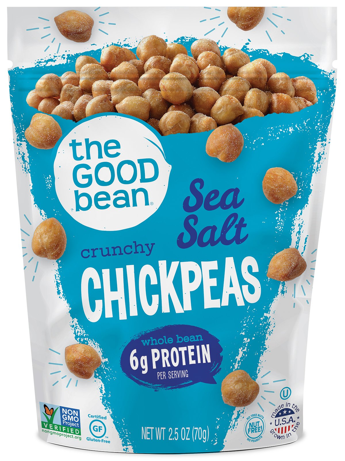 Amazon.com: The Good Bean Chickpea Snacks, Variety Pack, Gluten and ...