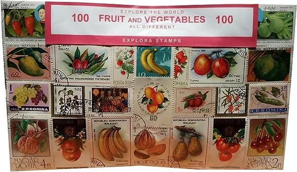 Explora Sellos Artísticas de Frutas y Verduras- 100 Diferentes de Todo el Mundo / Recuerdo