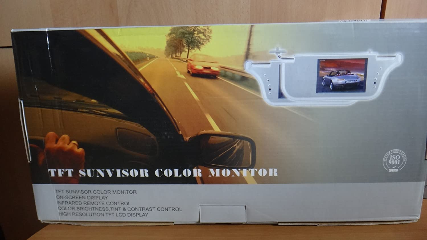 TFT Sunvisor Color Monitor Pair of 2 Gray 385 X 152 X 30mm Remote Control