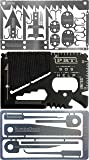 Credit Card Survival Tool Set (3 TOOL Pack): 3 Ultimate Urban or Camping Survival Gear Gift For Men Women - Prepper Supplies, Fishing Camping Hiking Emergency Kit Bag with 6pc Picking Tools Kit