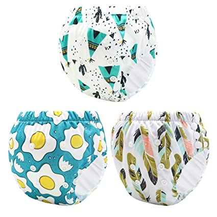 Pantalones de entrenamiento de botón Ropa interior resistente al agua Niñas Niños, Niño Bebé Paño