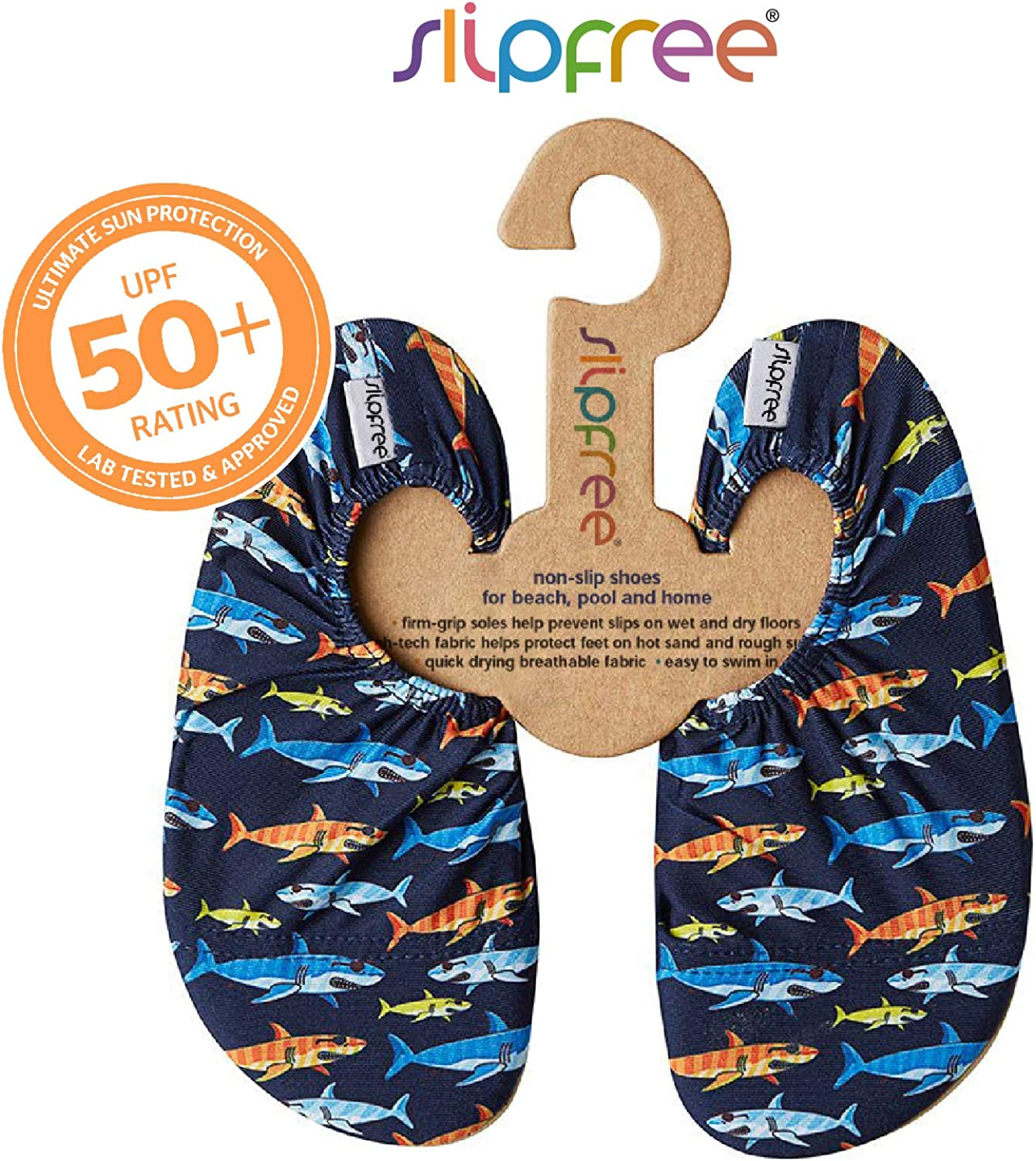 Pool and Home Water Shoes for Beach Boys Non-Slip UPF50+ Barefoot Swim Slipfree Shiver Large