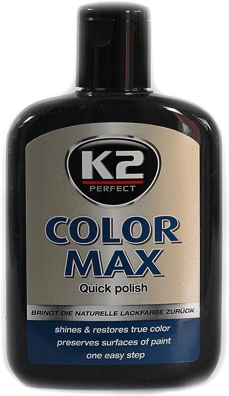 K2 Color Max Farbwachs Lack Polish Regenerator Glanz Kratzer Abdecken Schwarz Auto