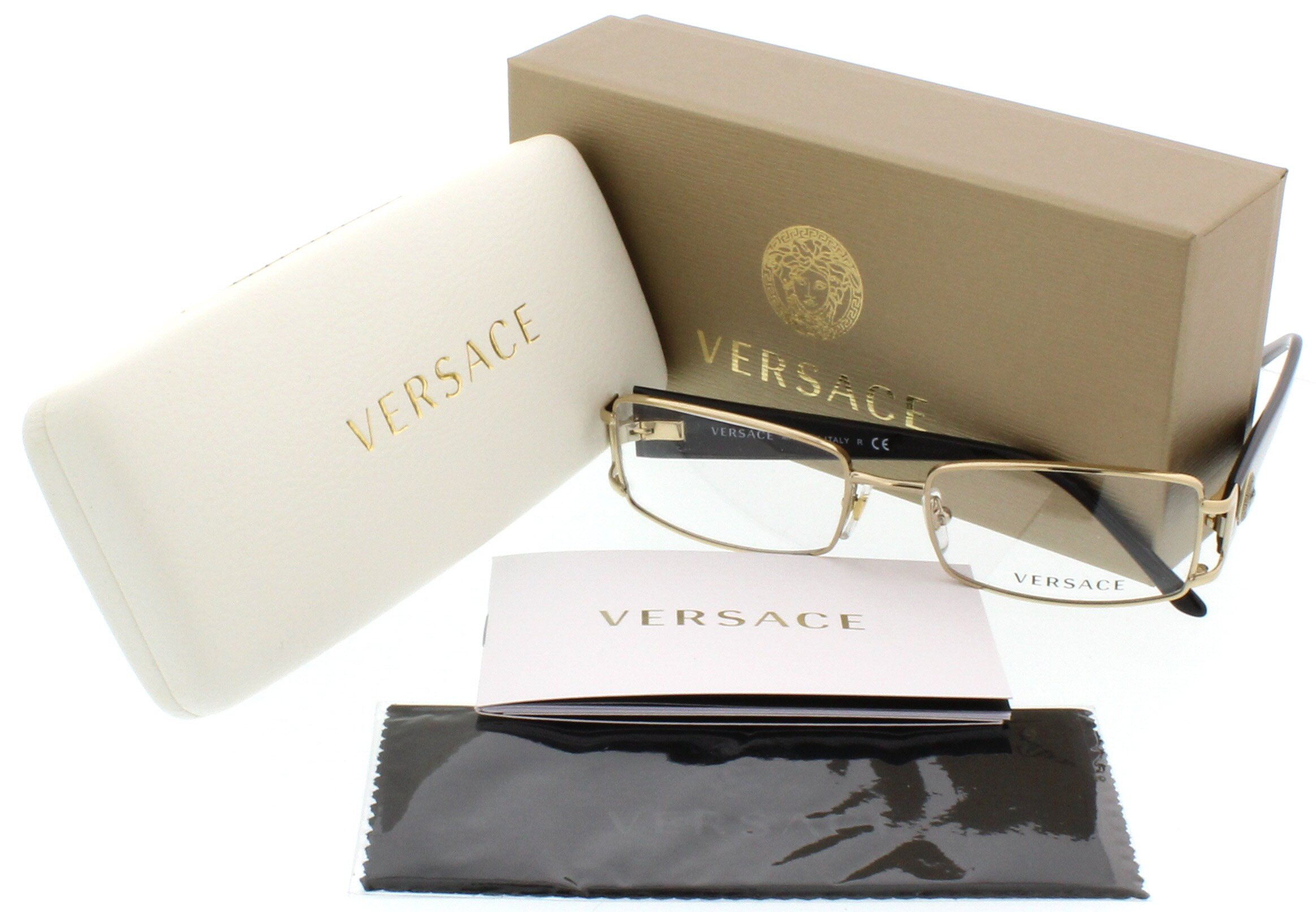 Versace VE1163M Eyeglass Frames 1252-52 - Pale Gold VE1163M-1252-52 by Versace