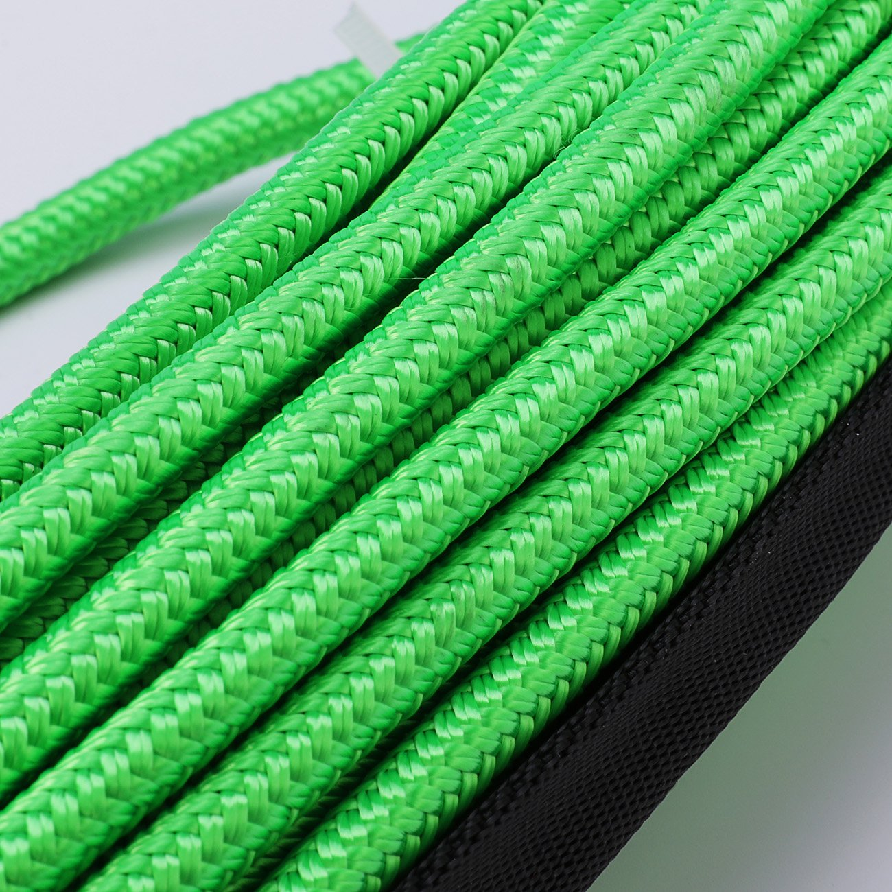 Synthetic Winch Rope 50x1//4 Snap Hook and Rubber Stopper Strong Durable Dyneema Cable Green Winch Rope 7800lbs with Sheath for atvs Winches ATV UTV SUV Truck Boat Ramsey Car Motorcycle Samlighting