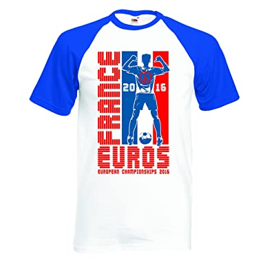 D2 W camiseta Campeonato de Europa de fútbol 2016 France diseño Peace 2 colores