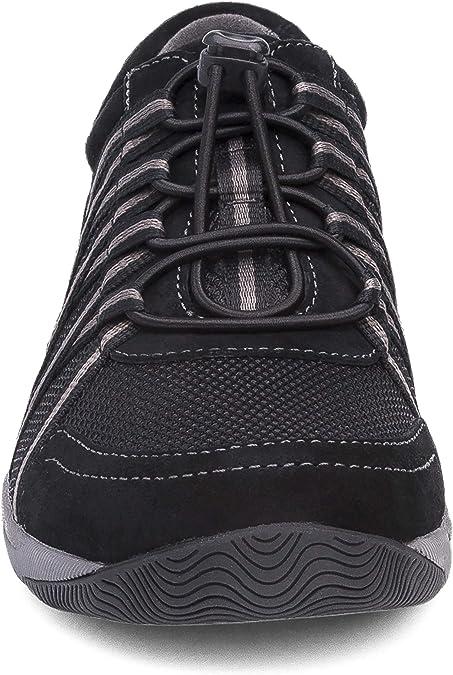 Women/'s Dansko Walking Sneakers Honor Black Black