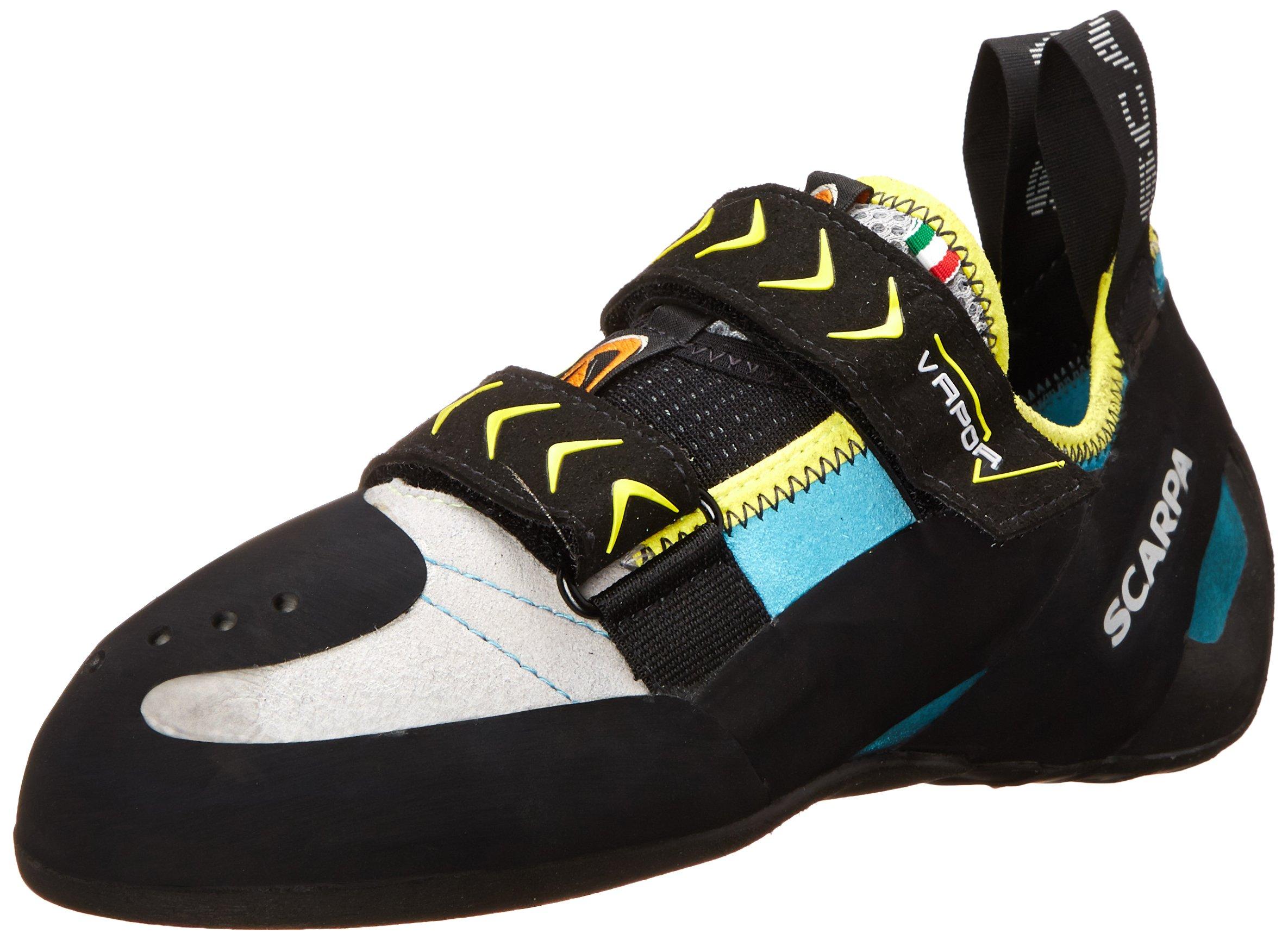 Scarpa Women's Vapor V Climbing Shoe, Turquoise, 38.5 EU/7 1/3 M US