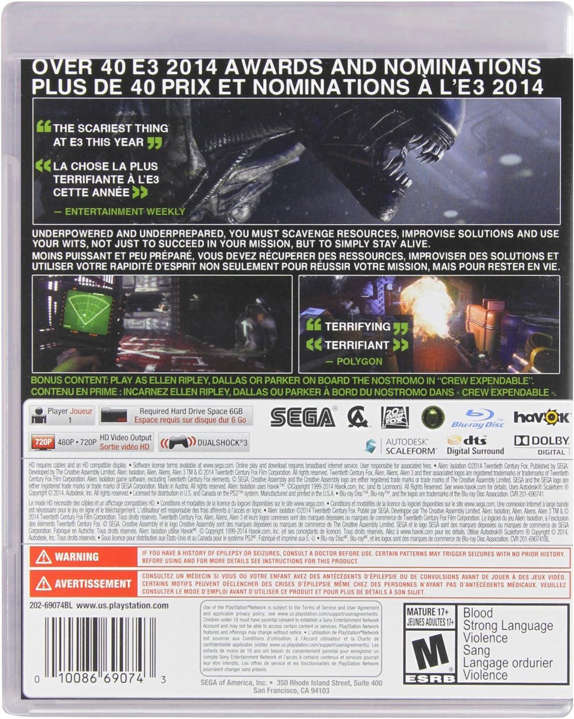 Amazon com: Sega Alien: Isolation - Xbox 360 Standard
