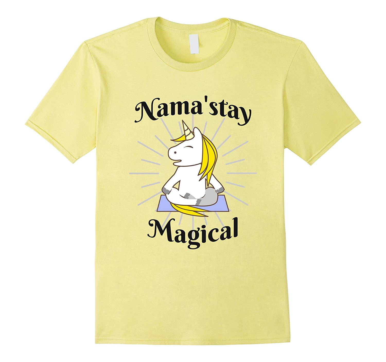 Unicorn Yoga Shirt Nama'stay Magical Funny T-Shirt