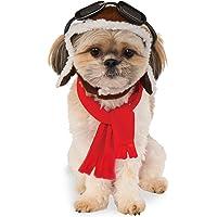 Rubies Costume Co Company 580222_S-M Pet Aviator Hat and Scarf Set, Small/Medium