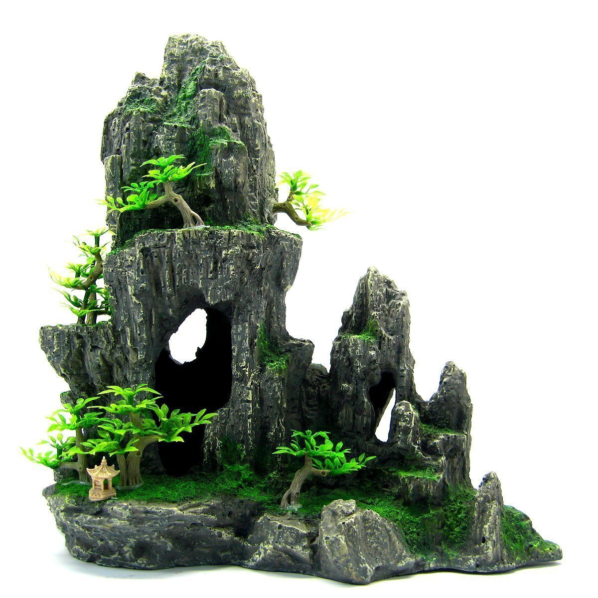 Mountain View Aquarium Ornament tree 29x15x28.5cm - Rock Cave house decoration by Aquarium Equip