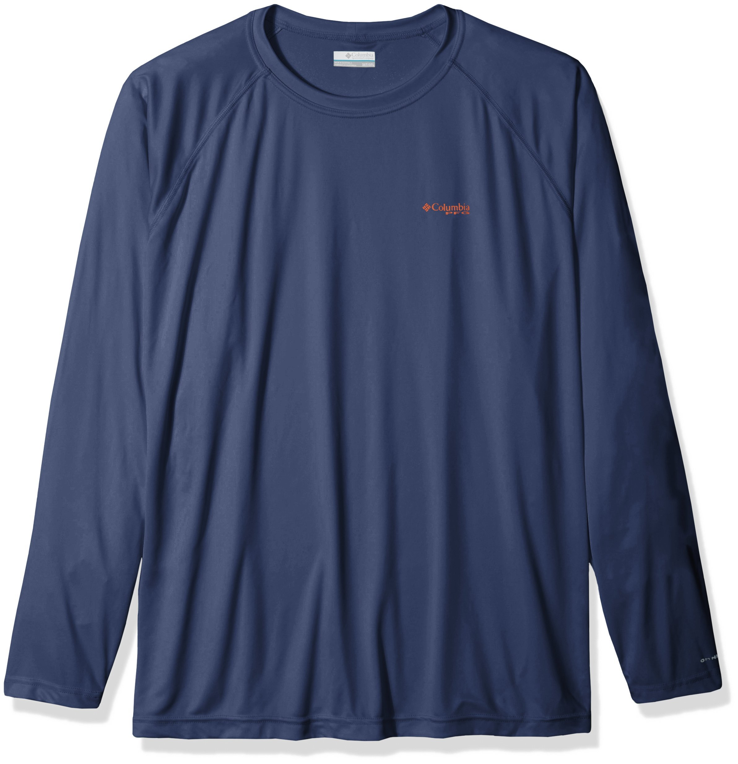 Columbia Men's Terminal Tackle Big & Tall Long Sleeve Shirt, Dark MTN, Backcountry Orange L, 4X