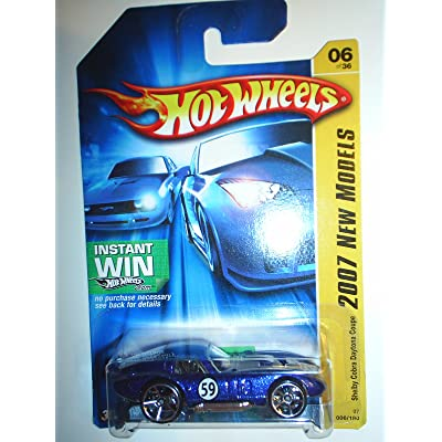 2007 New Models #6 Shelby Cobra Daytona Coupe Blue #2007-06 Collectible Collector Car Mattel Hot Wheels: Toys & Games