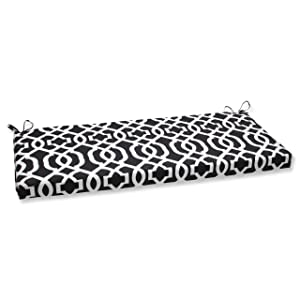 Pillow Perfect New Geo Bench Cushion, Black/White