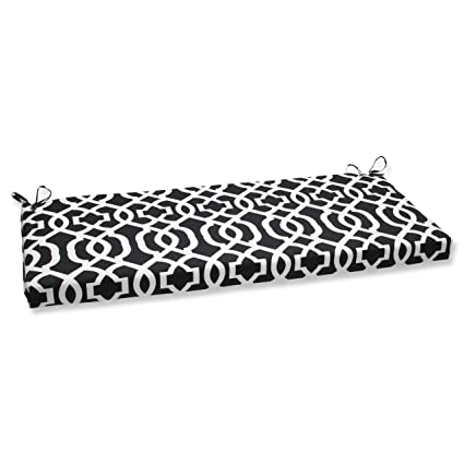 Superb Pillow Perfect New Geo Bench Cushion Black White Caraccident5 Cool Chair Designs And Ideas Caraccident5Info