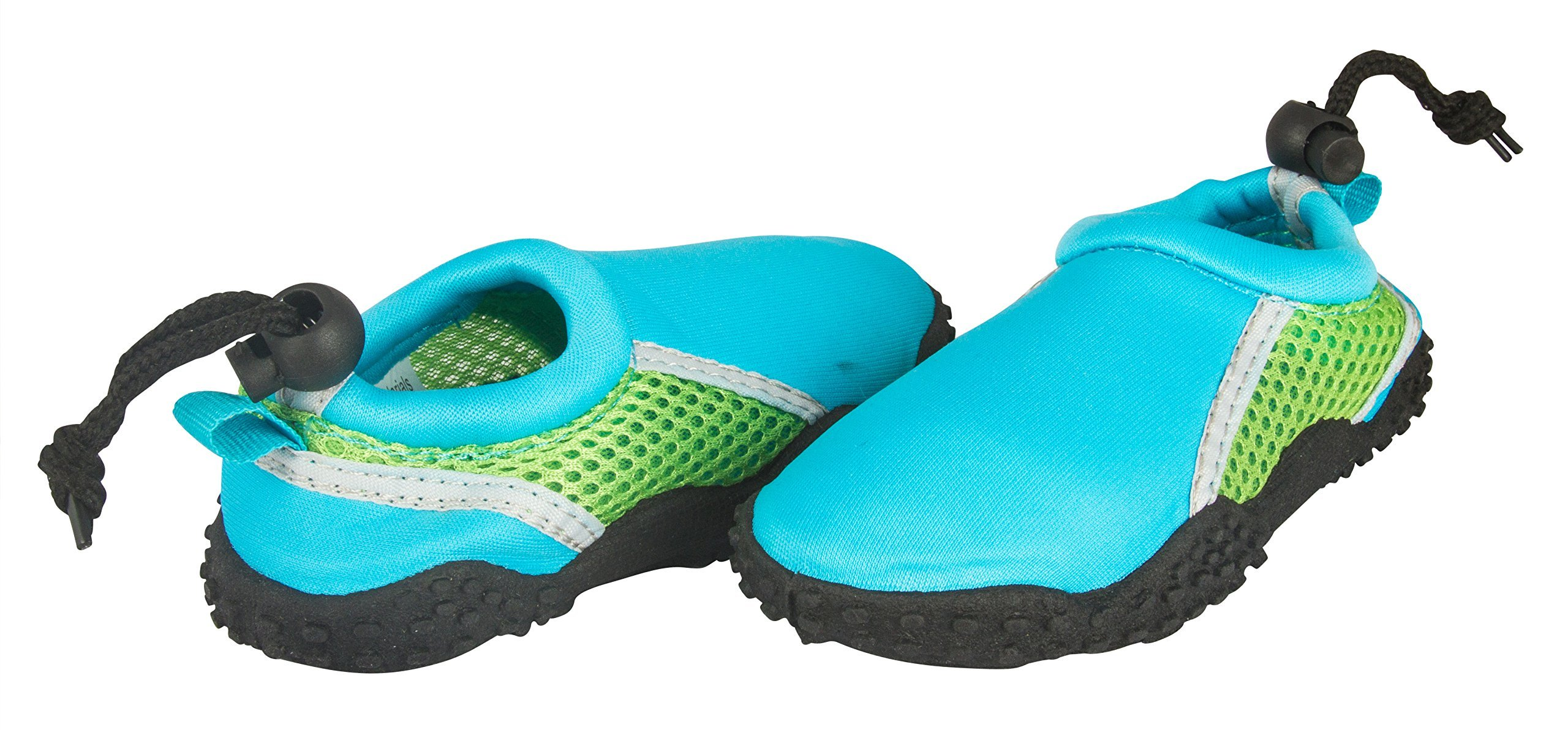 Shocked Toddler Neoprene and Mesh Water Beach Shoe Size 11-12 Turquoise/Green/Gray