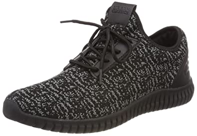 Unisex Adults Low Sneaker with Laces Trainers, Black, 12 UK Urban Classics