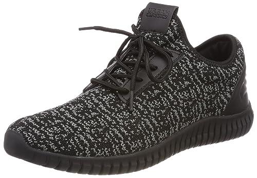 Urban Classics Knitted Light Runner Shoe, Zapatillas Unisex Adulto, Multicolor (Black/Grey/Black 828), 43 EU