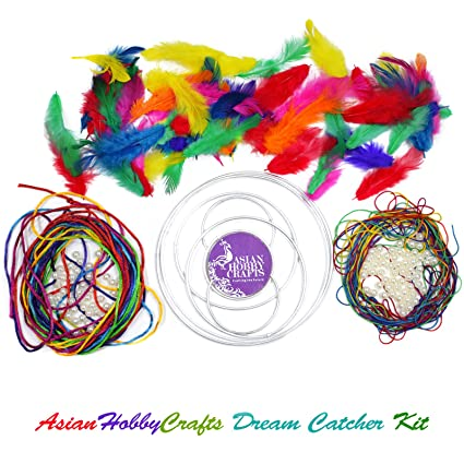 Asian Hobby Crafts DIY Dream Catcher Kit Medium Amazonin Toys Gorgeous Dream Catcher Kits Supplies
