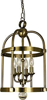 "product image for Framburg 1103 MB 4-Light Compass Mini Chandelier, 55"" x 12"" x 19"", Mahogany Bronze"