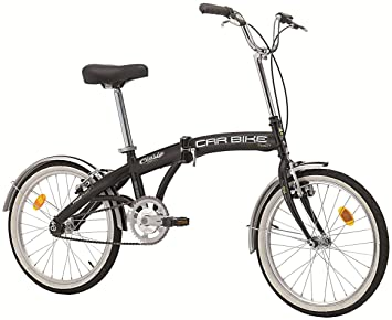 Bicicleta plegable «Car Bike» de acero, 20 pulgadas, color negro