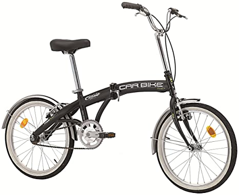 Bici Cinzia Pieghevole.Cicli Cinzia Bicicletta 20 Pieghevole Carbike Senza Cambio Nero Opaco Uomo