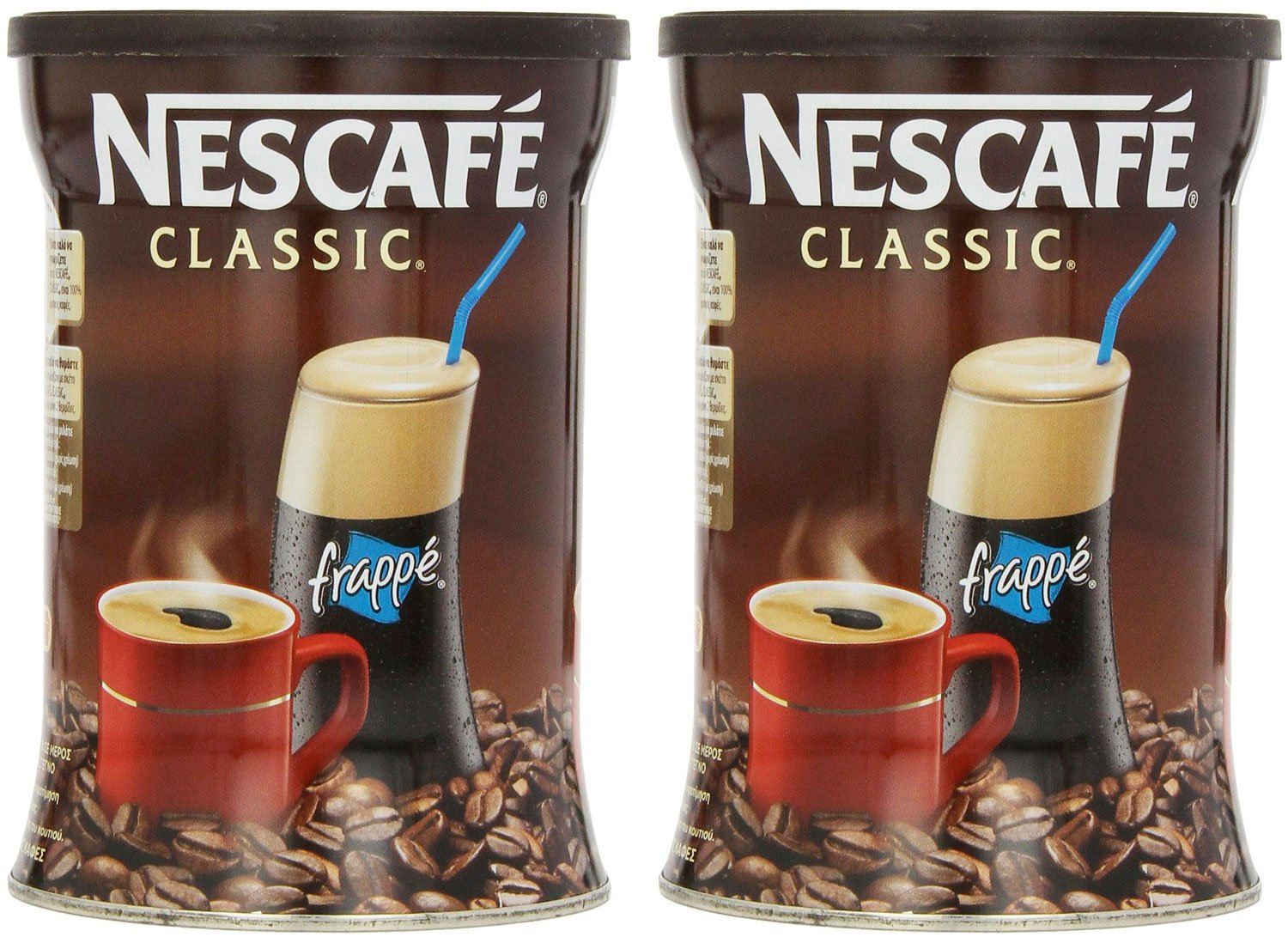 Nescafe Classic Instant Greek Coffee, 7.08 Ounce (Pack of 2)