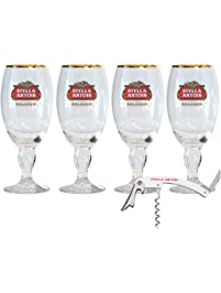 Stella Artois 4-Pack Chalice Glass with Bottle Opener, 33cl