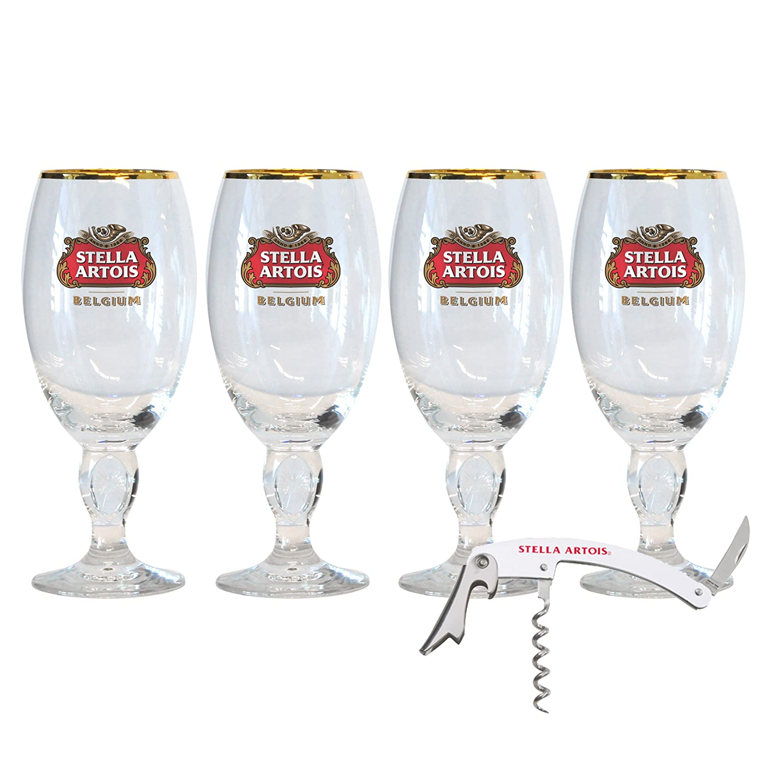Stella Artois 4-Pack Original Glass Taster Chalice, 15cl 531177