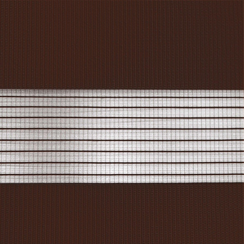 Victoria M. - Estor doble enrollable (para ventanas y puertas) 110 x 230cm, marrón oscuro: Amazon.es: Hogar