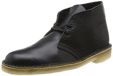 Clarks Originals Desert Boot, Botas para Hombre, Negro (Black Tumbled), 46 EU