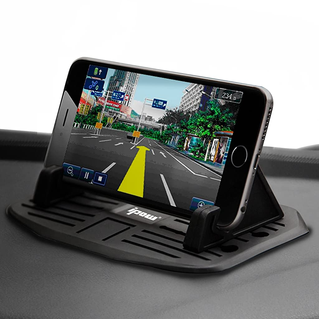 IPOW Car Silicone Pad Dash Mat Cell Phone Mount Holder Cradle Dock For Smartphones Table PC