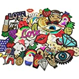 24pcs/lot Assorted Iron-on or Sew-on Embroidered Patch Motif Applique Set (Mixed colors Set 14)