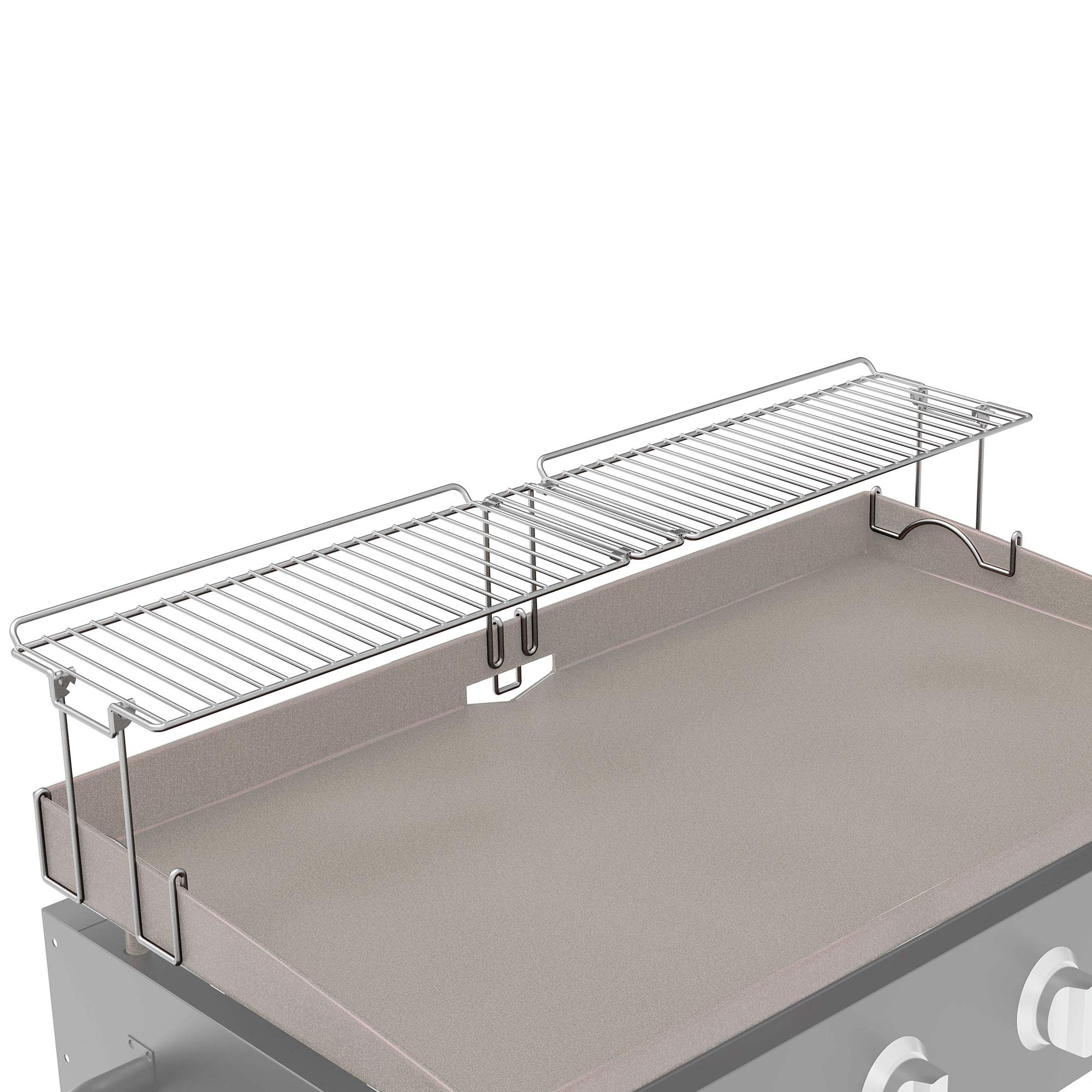 Yukon Glory, New and Improved Griddle Warming Rack, Steel, Easily Clips On, Designed for Blackstone 36 Inch Griddles by Yukon Glory